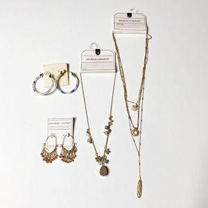 Jewelry Lot Long Necklaces Beachy Dangle Earrings